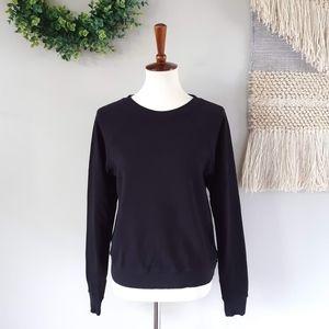 MATE | Organic Terry Raglan Sweatshirt - Jet Black